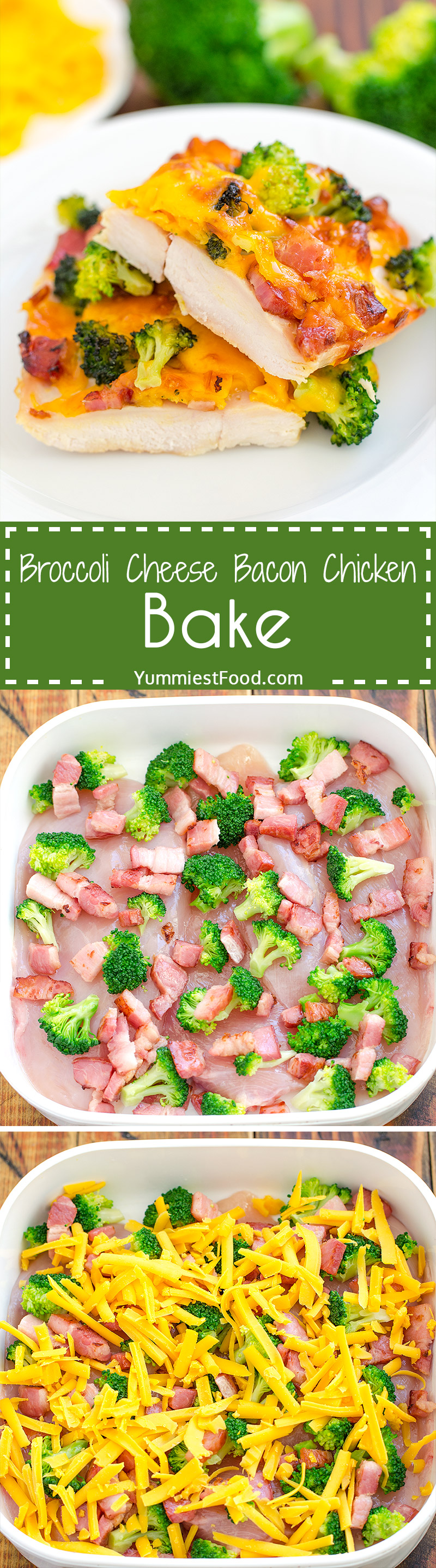 BROCCOLI CHESSE BACON CHICKEN - simple and easy meal for whole family