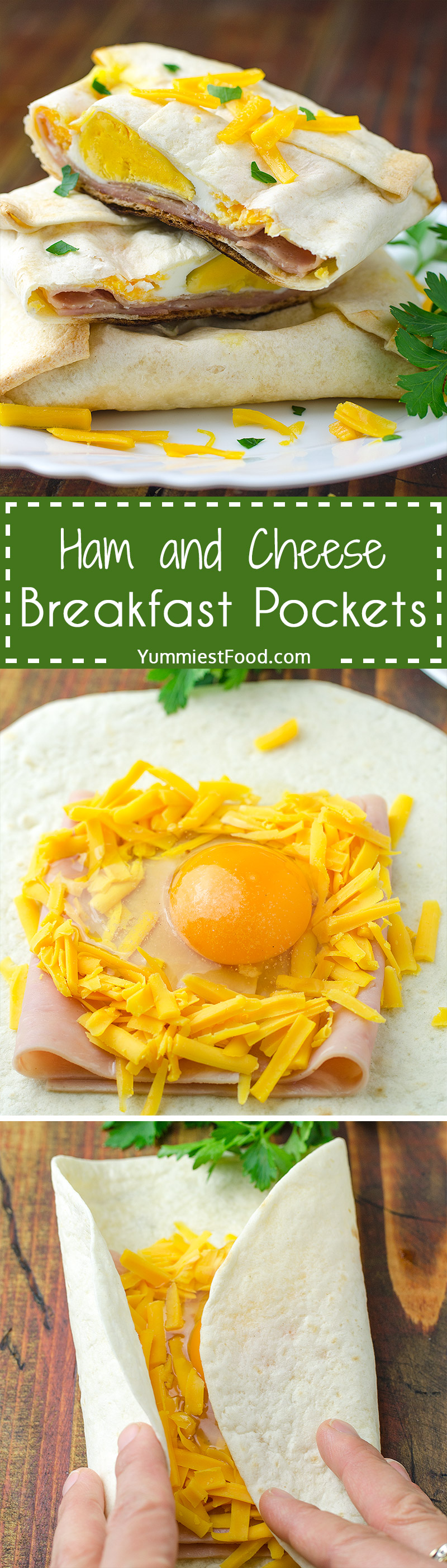 Easy Ham and Cheese Breakfast Pockets - Great simple breakfast recipe