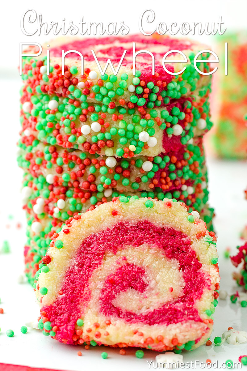 Christmas Coconut Pinwheel No Bake