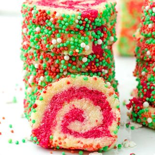 Christmas Coconut Pinwheel No Bake