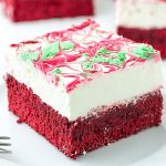 Christmas Red Velvet Cheesecake Brownies - Featured Image