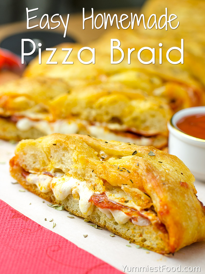 Easy Homemade Pizza Braid