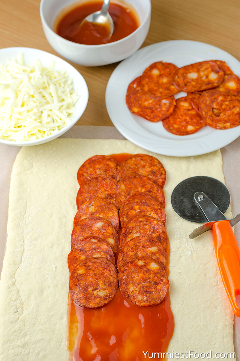 Easy Homemade Pizza Braid - Making - Step 1