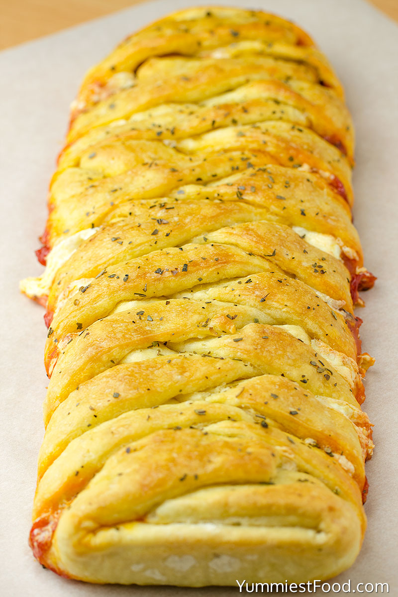 Easy Homemade Pizza Braid - Making - Step 3