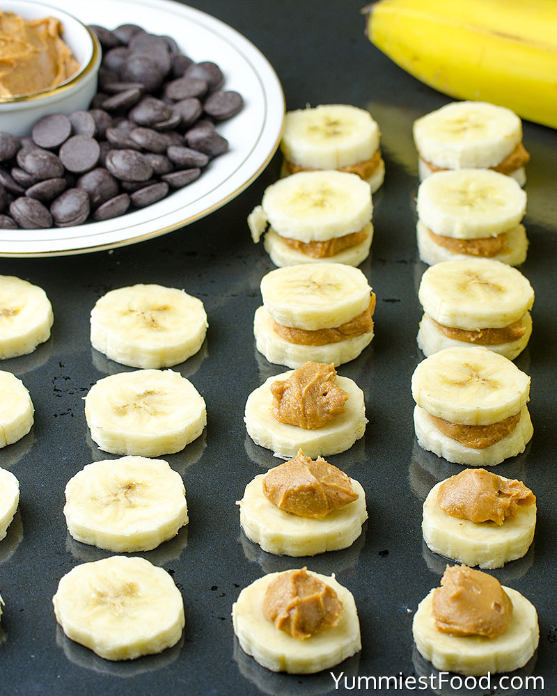 Healthy Peanut Butter Banana Bites - Making - Step 1