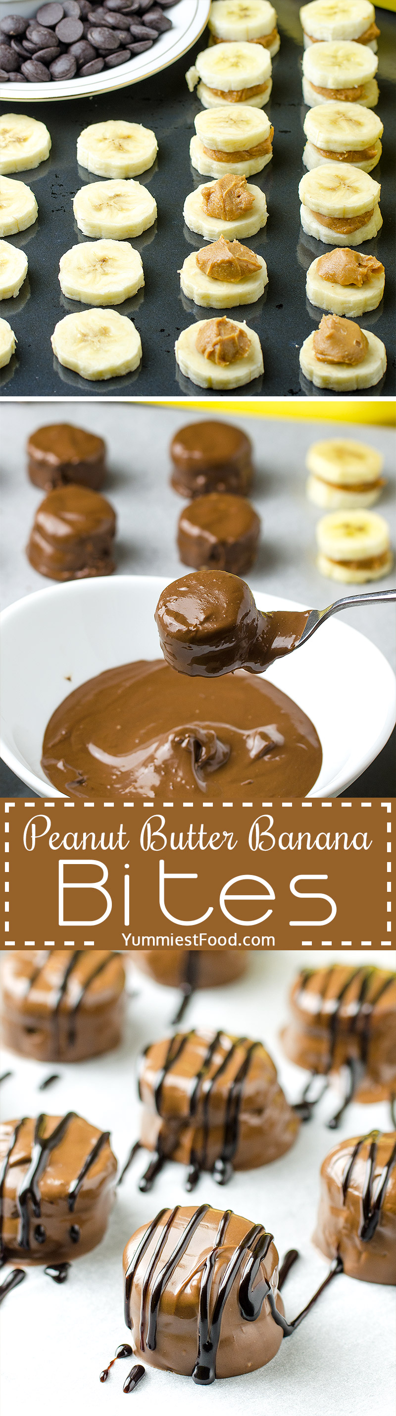 HEALTHY PEANUT BUTTER BANANA BITES - These Healthy Peanut Butter Banana Bites are so delicious and you need just three ingredients to make them