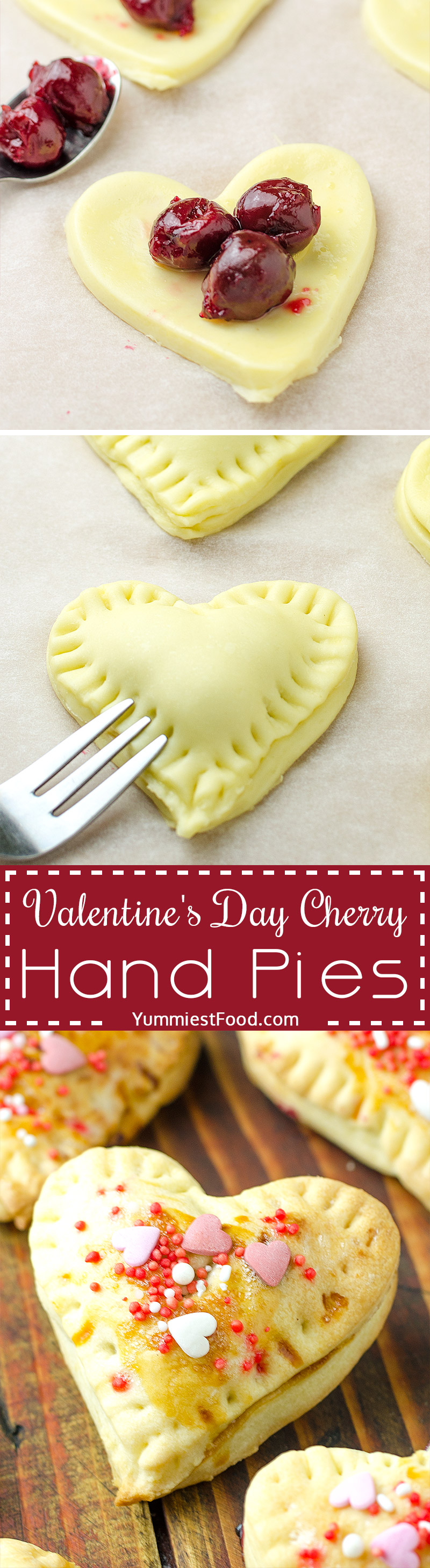 Valentine's Day Cherry Hand Pies - a special recipe for a special occasion Valentine's Day