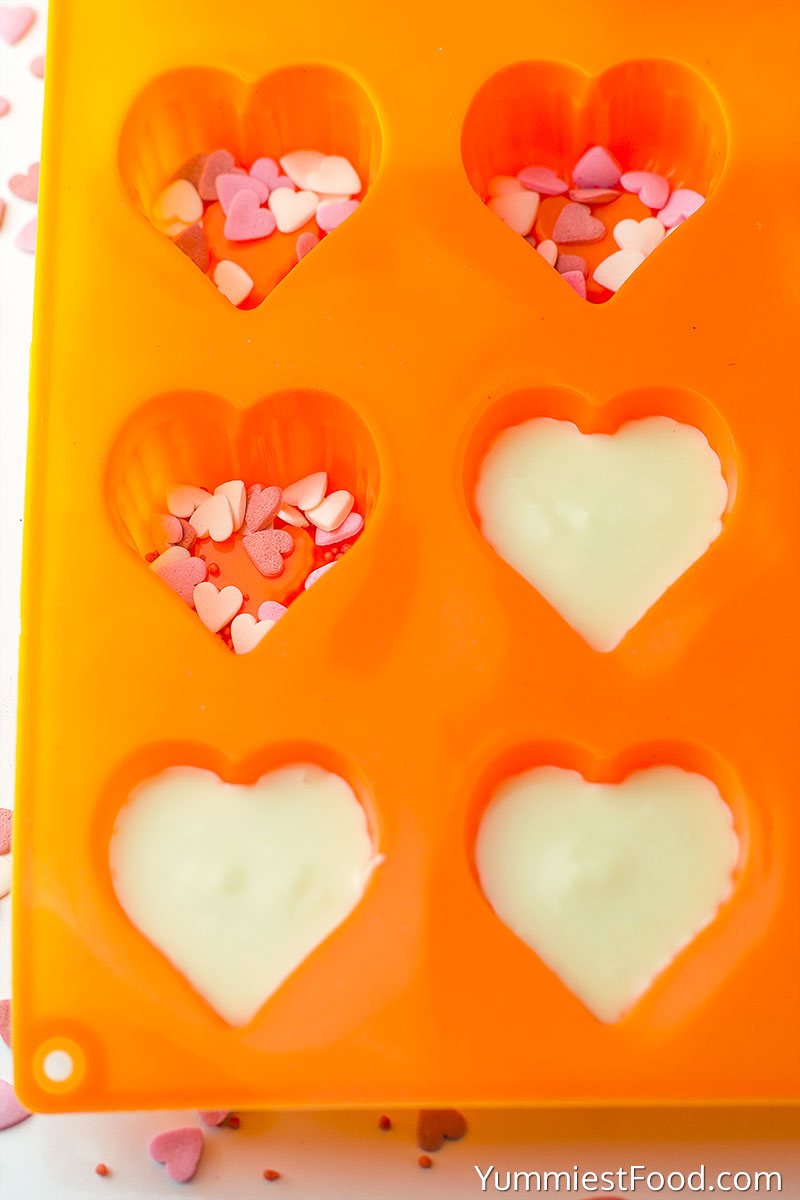 Valentines White Chocolate Hearts - Making - Step 1