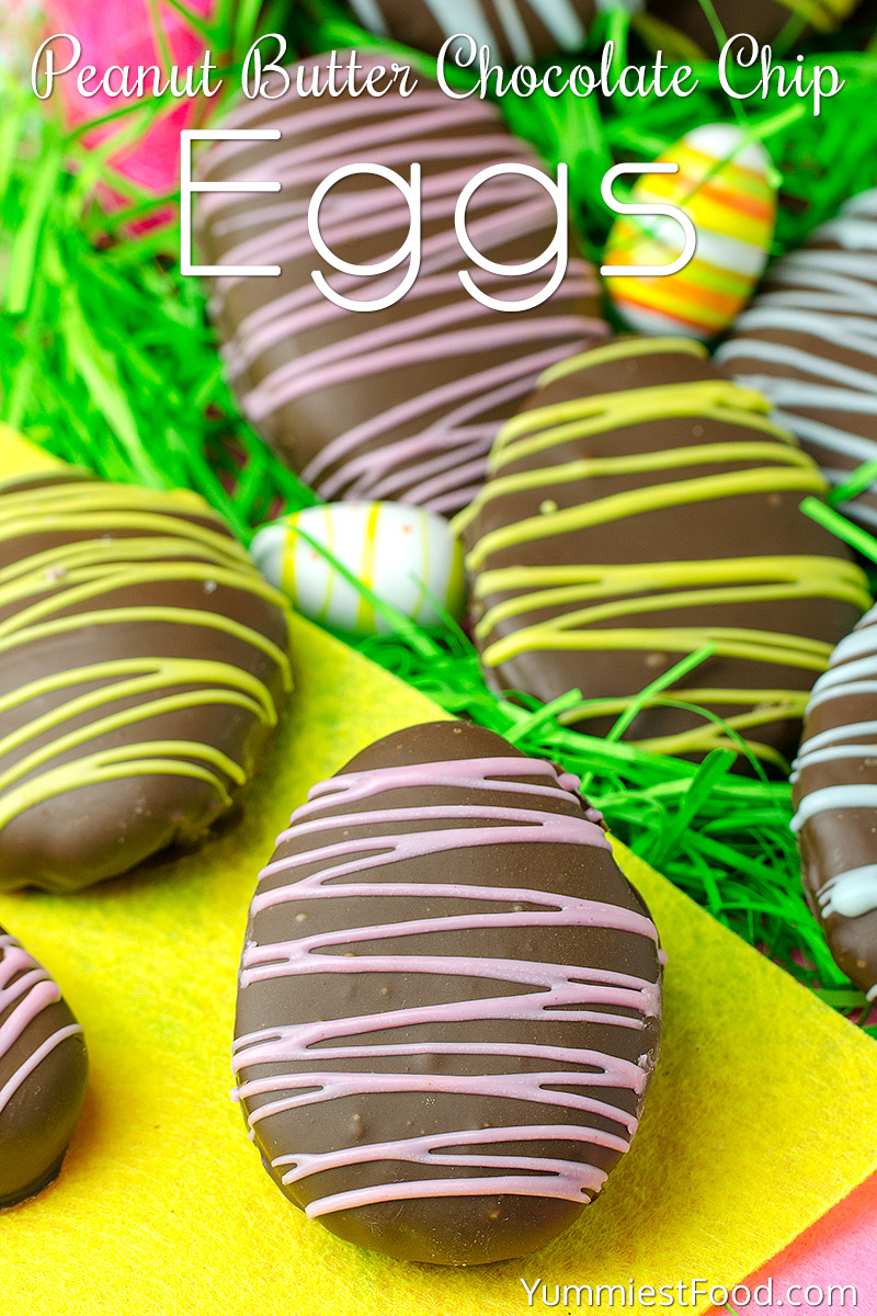 Easter Peanut Butter Chocolate Chip Eggs