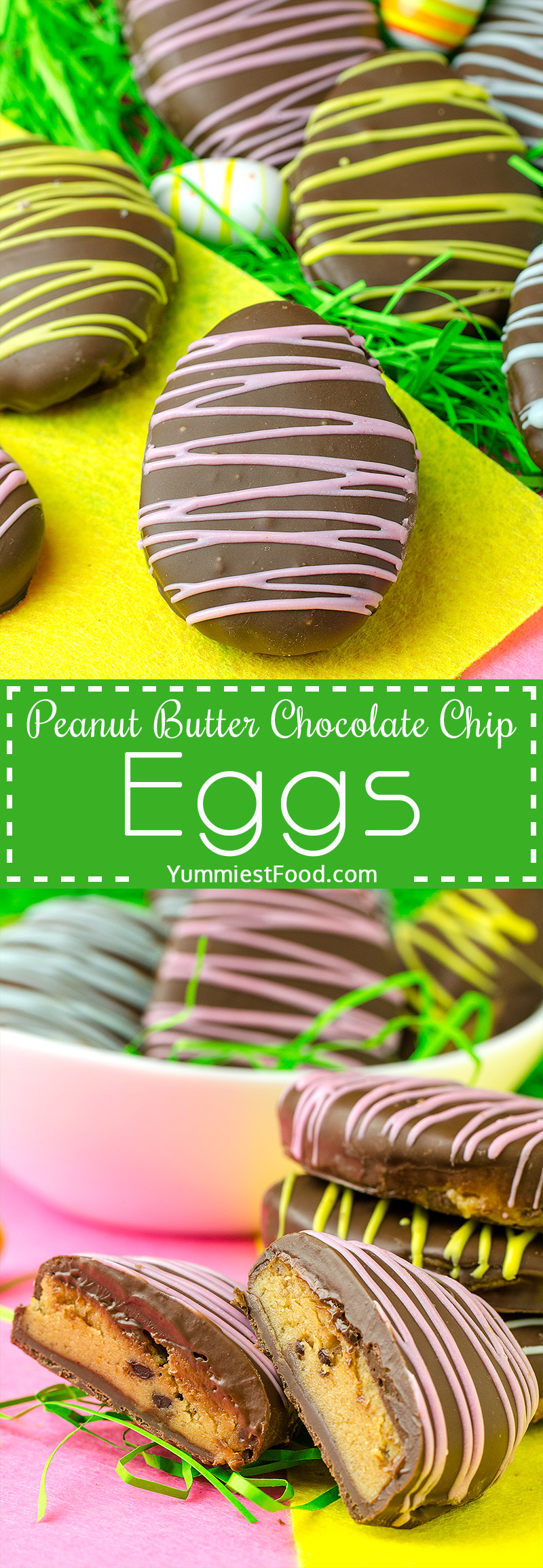 These cute, delicious and easy Peanut Butter Chocolate Chip Eggs are the perfect treat to indulge in this Easter