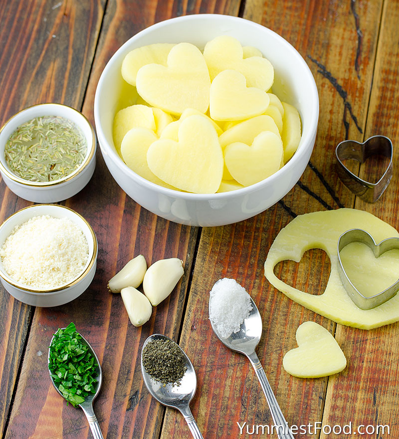 Heart Shaped Roasted Potatoes - Making - Step 1