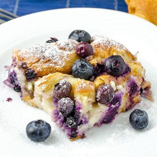 Blueberry Cream Cheese Croissant Puff