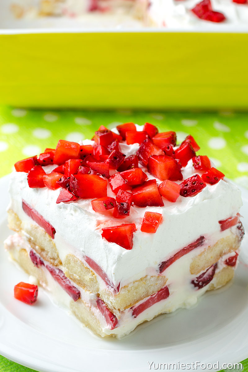 No Bake Strawberry Tiramisu