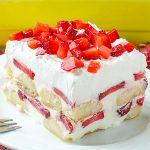 No Bake Strawberry Tiramisu Recipe - Featured Image