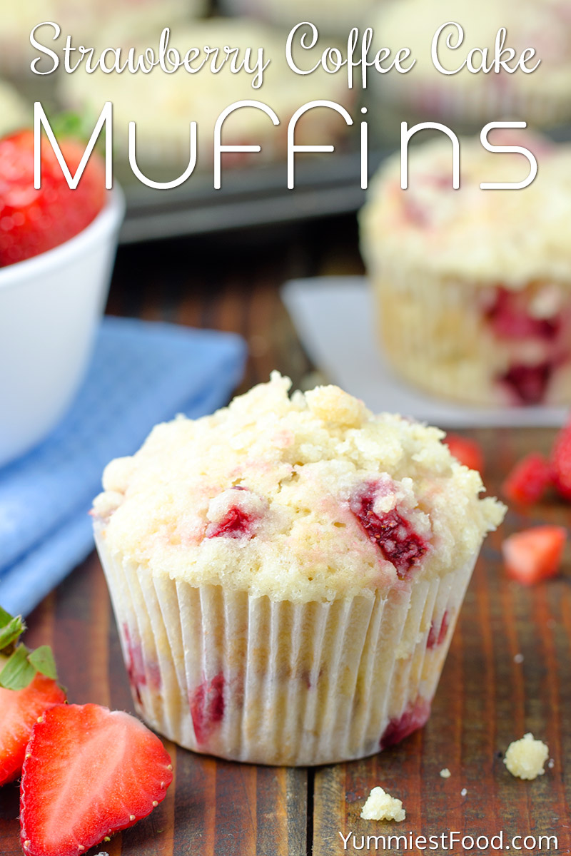 Strawberry Coffee Cake Muffins Recipe