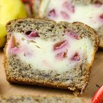 Strawberry Cream Cheese Filled Banana Bread - Featured Image