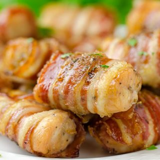 Easy And Sweet Chicken Bacon Bites Recipe - Featured Image