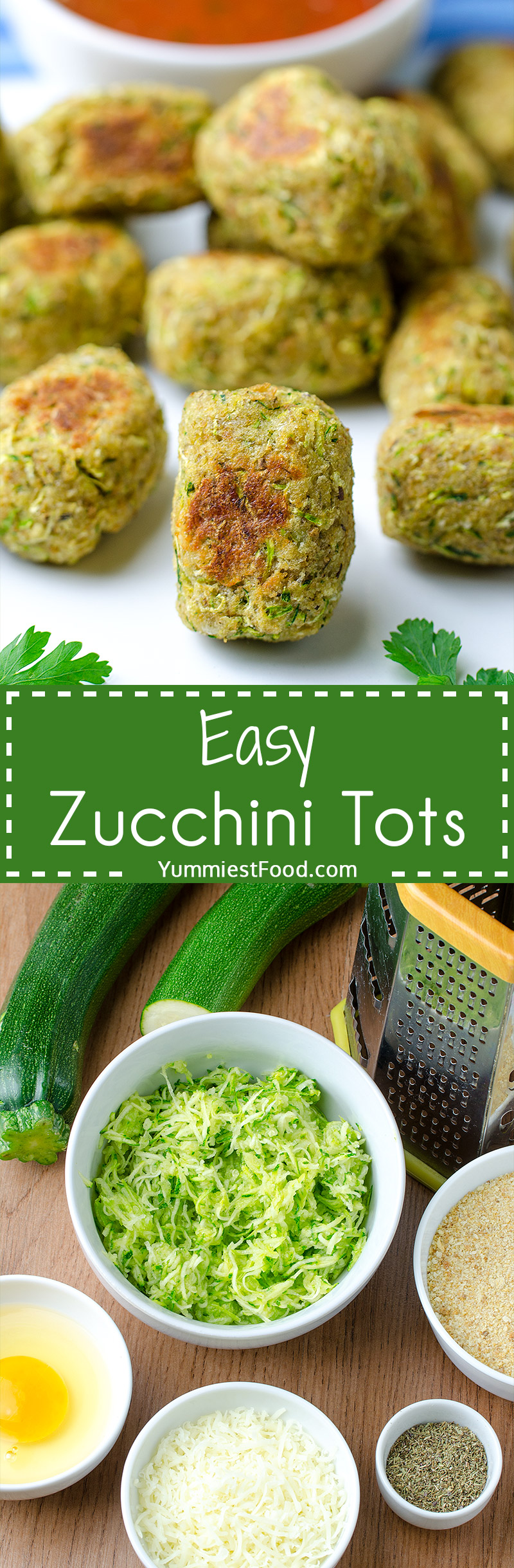 EASY ZUCCHINI TOTS - Just 5 ingredients and only 5 minutes of prepare