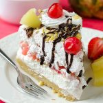 No Bake Banana Split Cheesecake Recipe - Featured Image