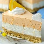 No Bake Summer Orange Creamsicle Cheesecake Recipe - Featured Image