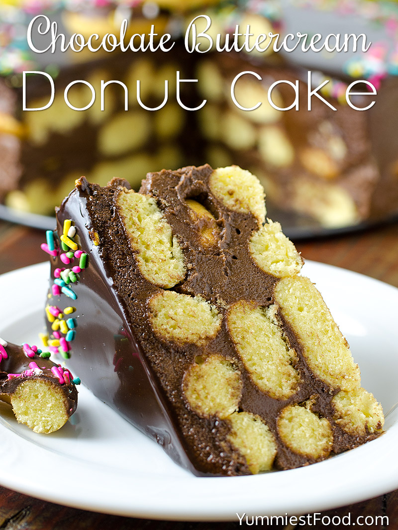 Chocolate Buttercream Donut Cake Recipe