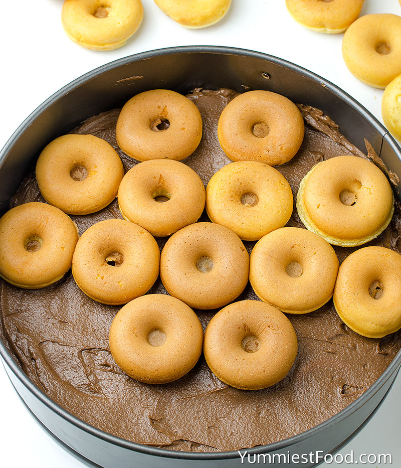 Chocolate Buttercream Donut Cake Recipe - Making - Step 1