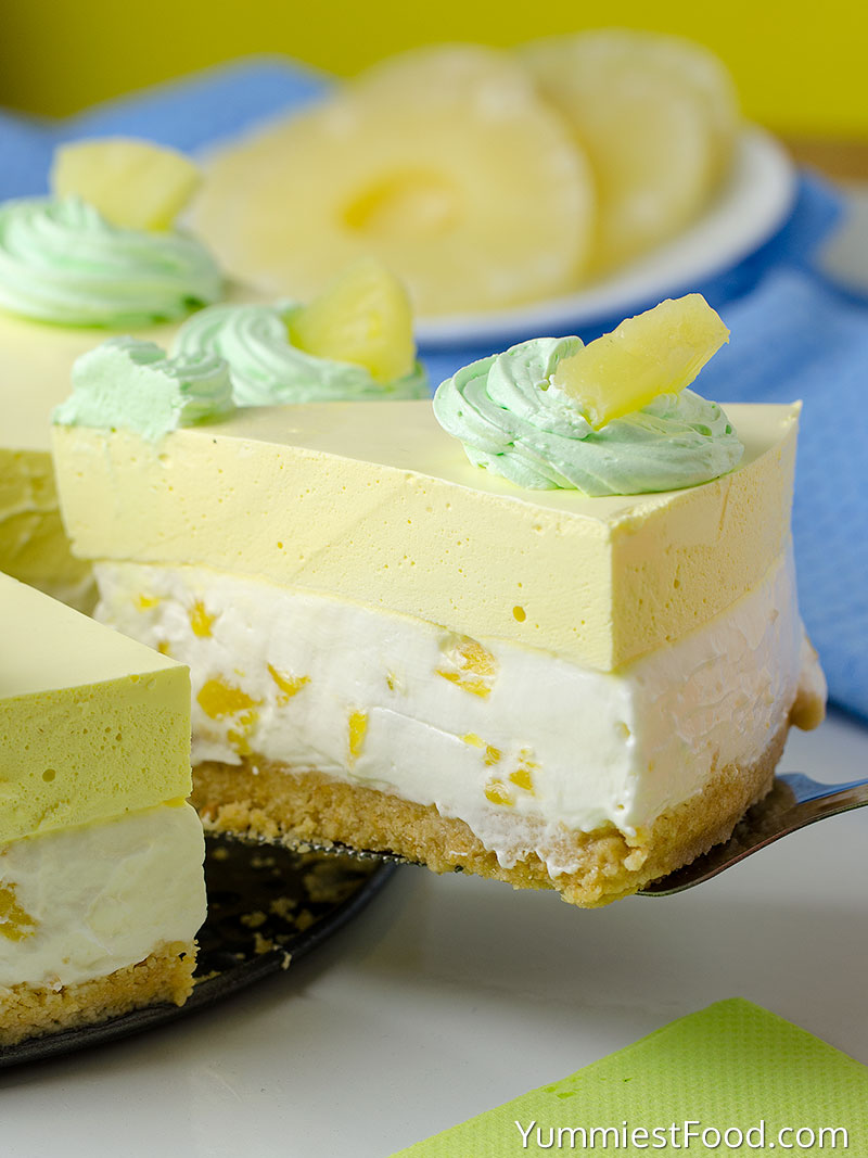 No Bake Pineapple Cheesecake