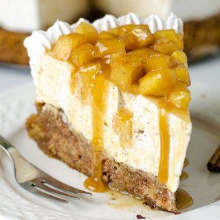 Caramel Apple Blondie Cheesecake - Featured Image