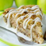 Cinnamon Roll Apple Pie - Featured Image