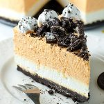 Pumpkin Cheesecake With Oreo Crust - No Bake - Featured Image