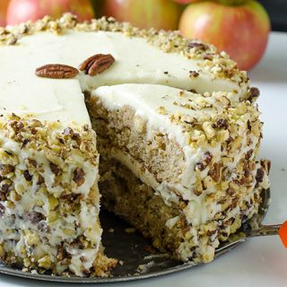 Apple, Pecan Cake With Buttercream Frosting Recipe - Featured Image