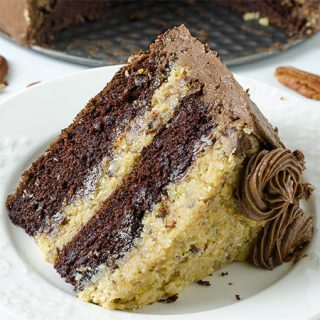 German Chocolate Cake Recipe - Featured Image