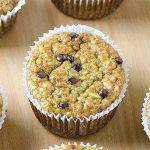 Healthy Banana Oat Greek Yogurt Muffins with Chocolate Chips - Featured Image