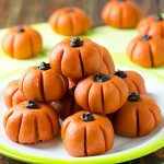 Easy Peanut Butter Pumpkins No-Bake Recipe - Featured Image