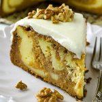 Pumpkin Cake Cheesecake Recipe - Featured Image