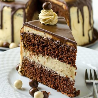 Chocolate Mocha Layer Cake - Featured Image