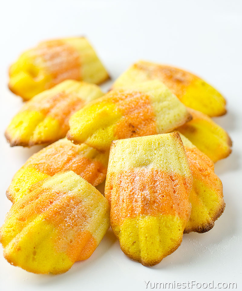 Easy Candy Corn Madeleine