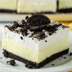 No Bake Oreo Vanilla Pudding Cake - Featured Image