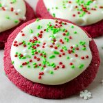 Christmas Red Velvet Sugar Cookie