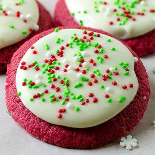 Christmas Red Velvet Sugar Cookie