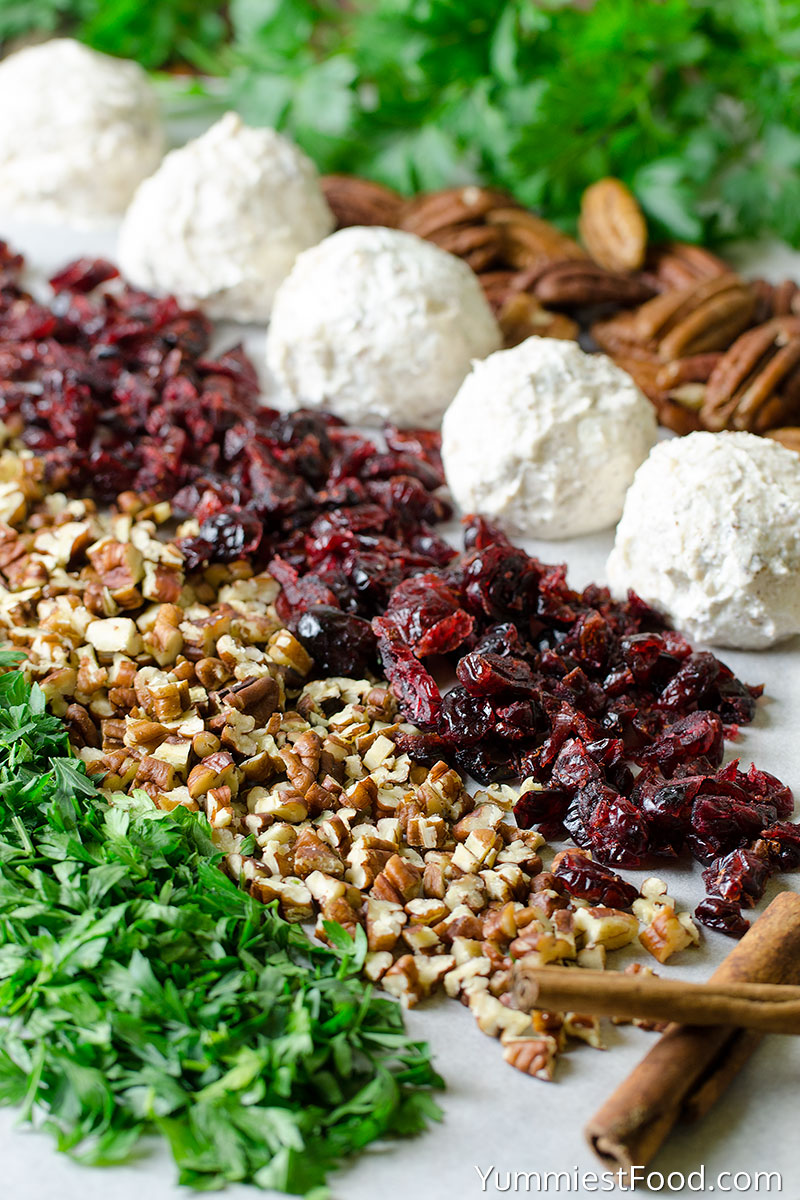 Cranberry Pecan Goat Cheese Balls - Ingredients