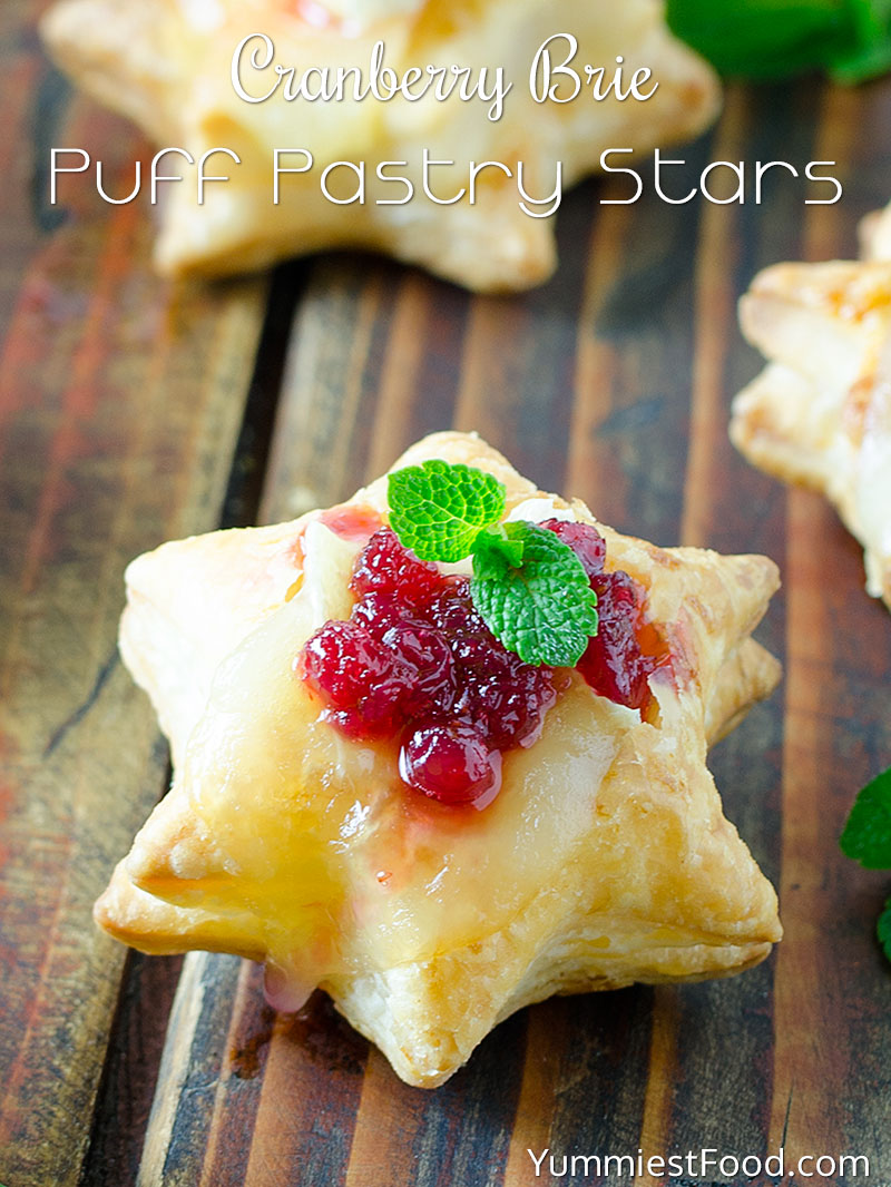 Christmas Cranberry Brie Puff Pastry Stars Recipe