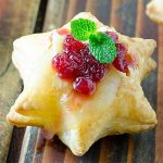 Christmas Cranberry Brie Puff Pastry Stars Recipe - Featured Image