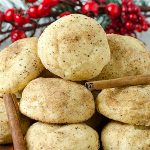 Easy Cream Cheese Cinnamon Christmas Cookies Recipe - Featured Image