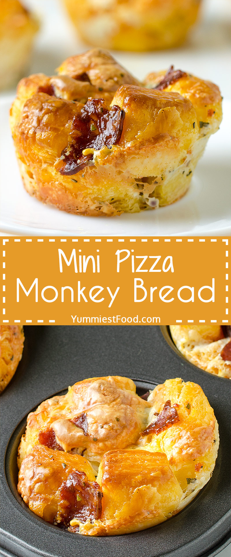 MINI PIZZA MONKEY BREAD – Simple Pizza Monkey Bread bites