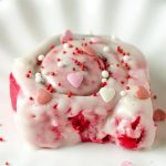Red Velvet Valentines Cinnamon Rools Recipe - Featured Image