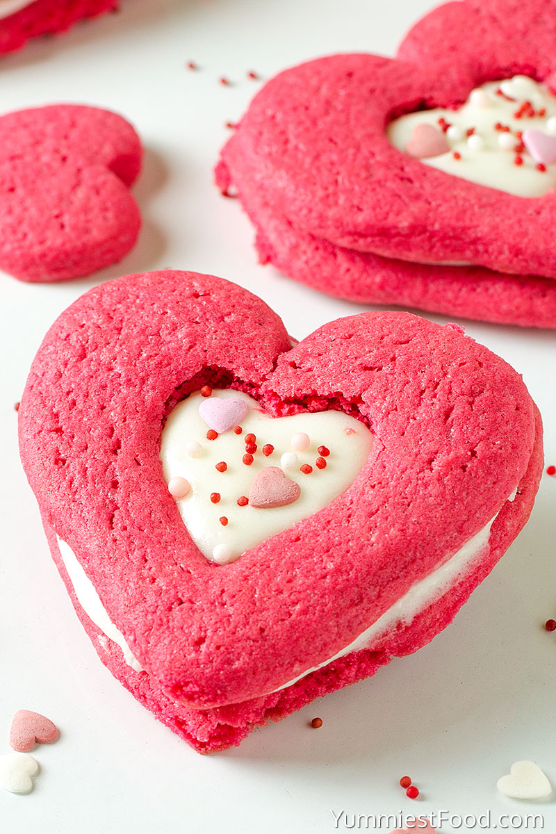 Red Velvet Sandwich Sugar Cookies