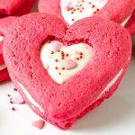 Valentines Red Velvet Sandwich Sugar Cookies Recipe - Featured Image