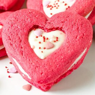Valentines Red Velvet Sandwich Sugar Cookies