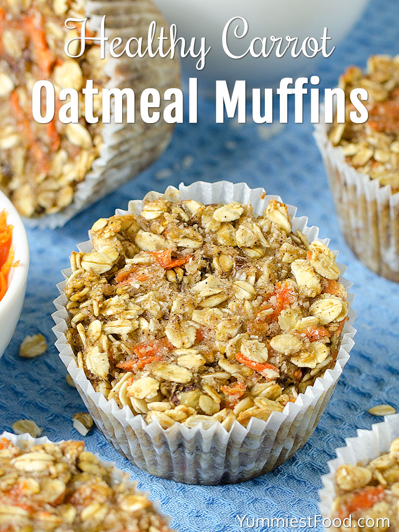 Healthy Carrot Oatmeal Muffins Recipe